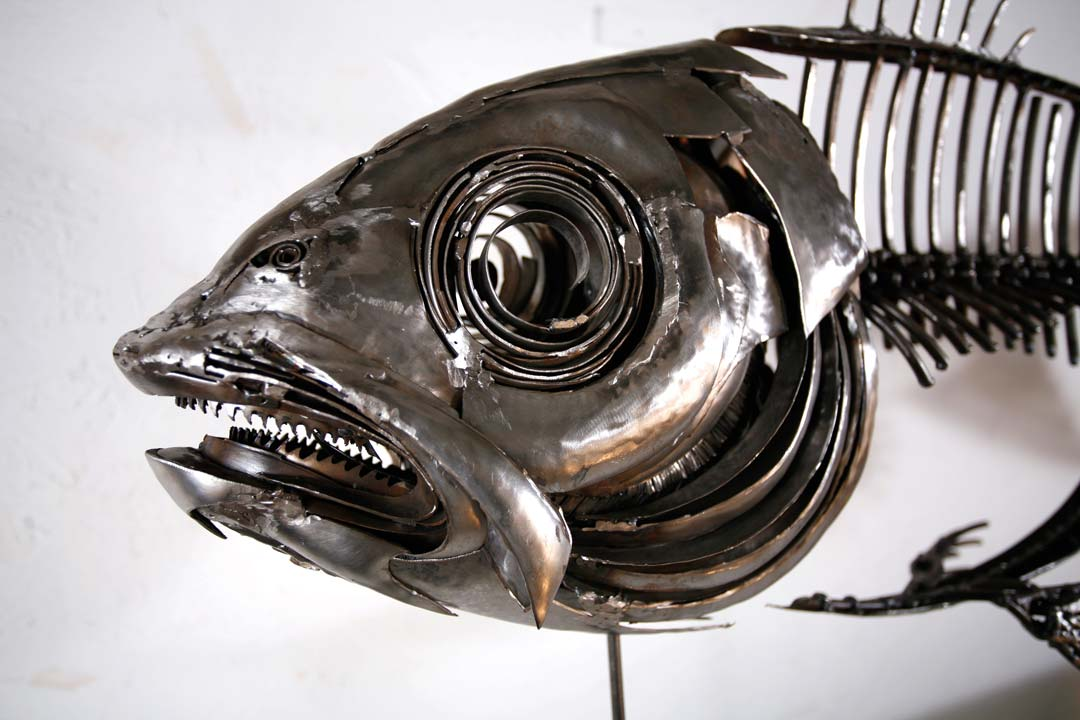 Close Up Of Fish XIX - Metal Sculpture By Russell West