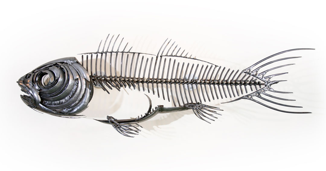 Fish XVII (Left View)- Metal Sculpture By Russell West