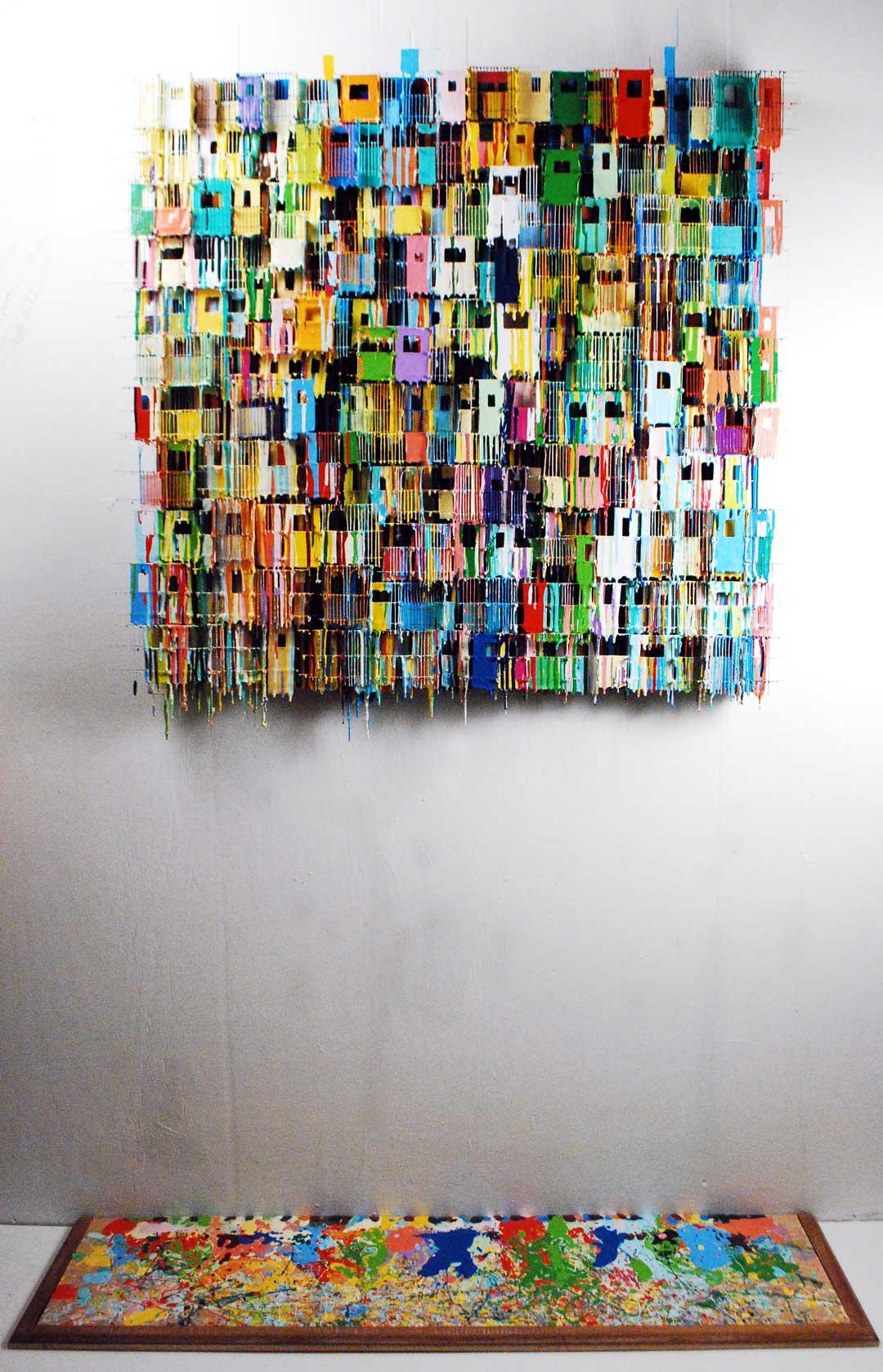 Large Odd Sock Monster   Contemporary Art   Russell West 3D Wall Art Sculptures
