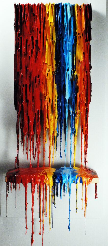 Lingerie X | Bright Artwork | Russell West 3D Wall Art Sculptures