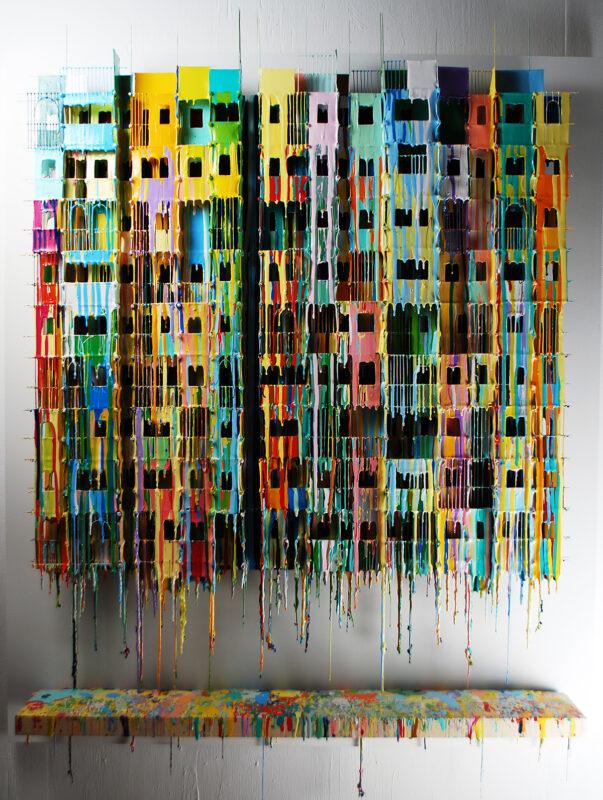Neighbourhood X | Wall Sculptures Large | Russell West 3D Wall Art Sculptures