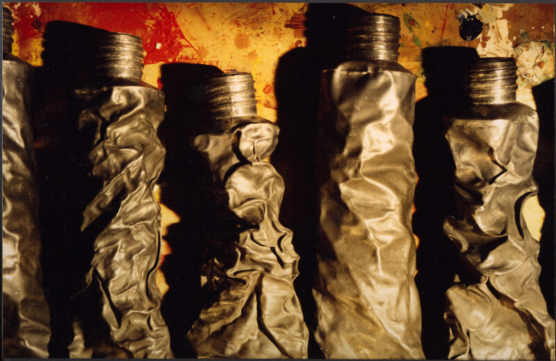 Close Up Of 'Oils'   Metal Sculpture By Russell West
