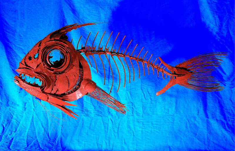 Red Snapper - Metal Fish Sculpture by Russell West