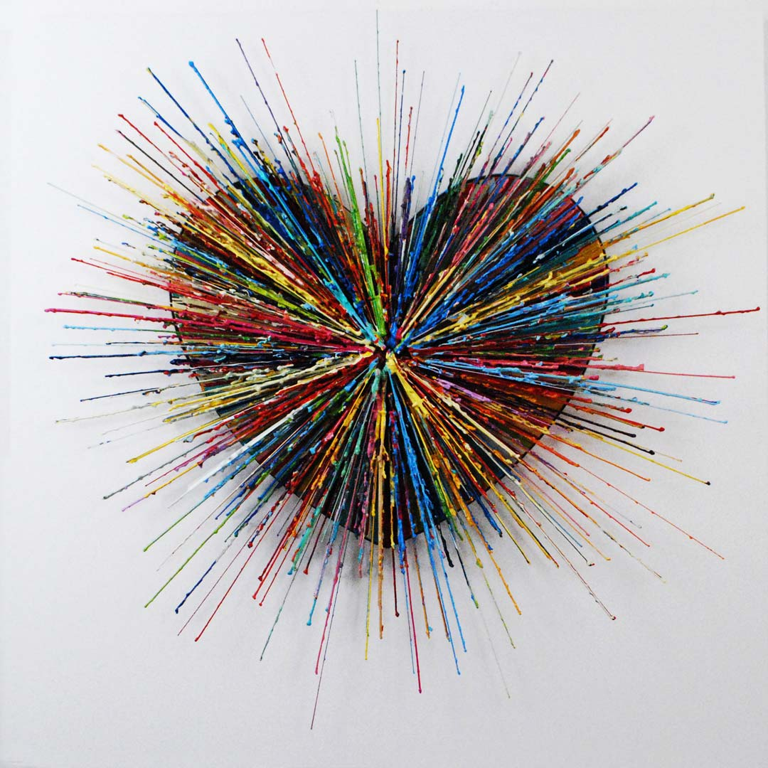 The God Particle II - Painting by Russell West