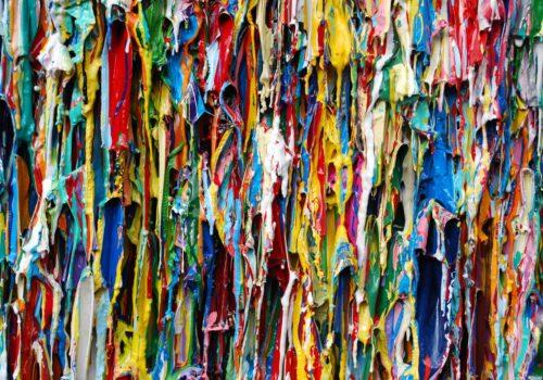 Close Up Of Tondo Landscape II | Abstract Sculpture | Russell West 3D Wall Art Sculptures