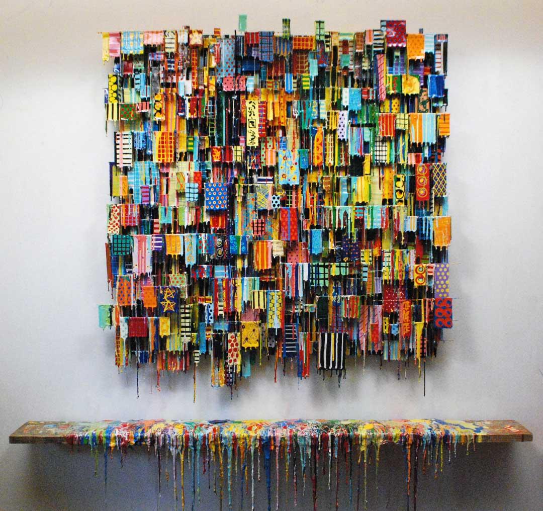Wrath Of An Indian Summer II | Contemporary Art | Russell West 3D Wall Art Sculptures