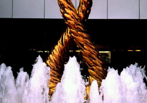 Forward | 250cm Tall Bronze Sculpture In Hong Kong By Russell West | Commissioned Artwork