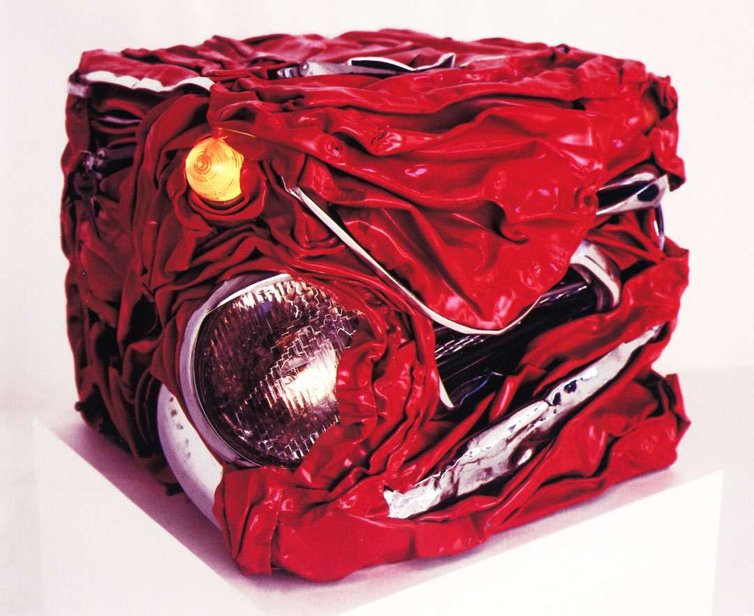 Crushed Car | Commissioned For Earl's Court Motor Show | Abstract Sculpture | Metal Sculpture Artist | Russell West