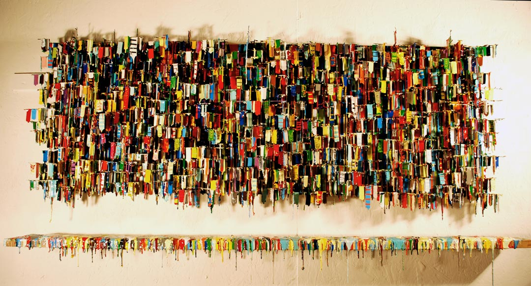 Favela II : One Of A Kind Wall Art Large | Russell West 3D Wall Art Sculptures