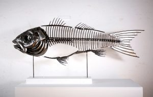 Fish XIX Left View | Fish Wall Art | Metal Sculpture By Russell West