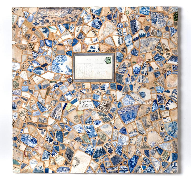 Margate Beach   Mosaic 3D Art (Broken Victorian Crockery From Margate Beach)   Victorian Wall Art   Russell West