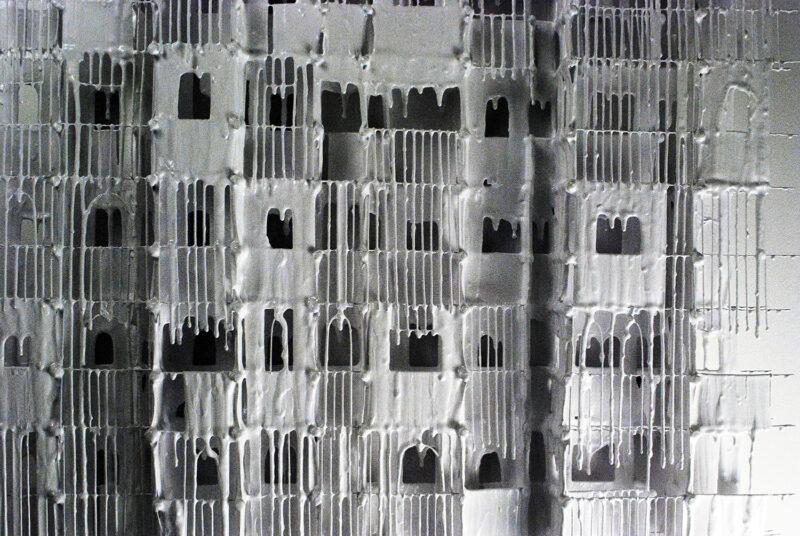 Close Up Of Neighbourhood IX   Russell West 3D Wall Art Sculptures