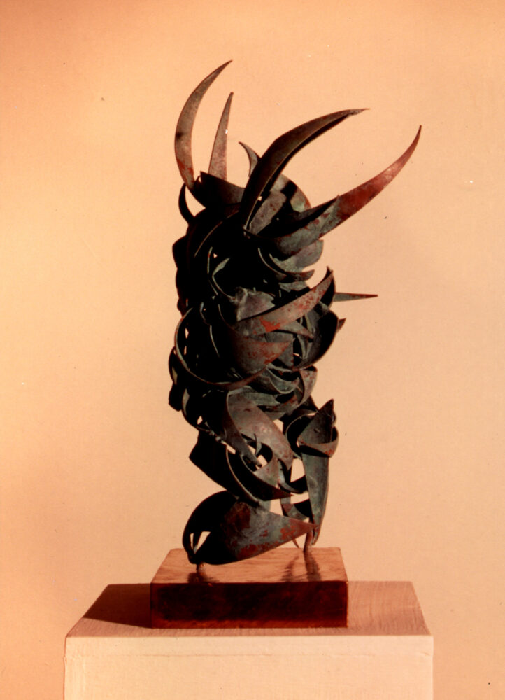Samurai II Side View   Abstract Figures Sculpture   Metal Sculpture By Russell West