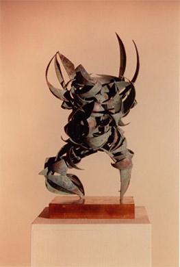 Samurai II, 1996, Copper, 28cm   Abstract Figures Sculpture   Metal Sculpture By Russell West