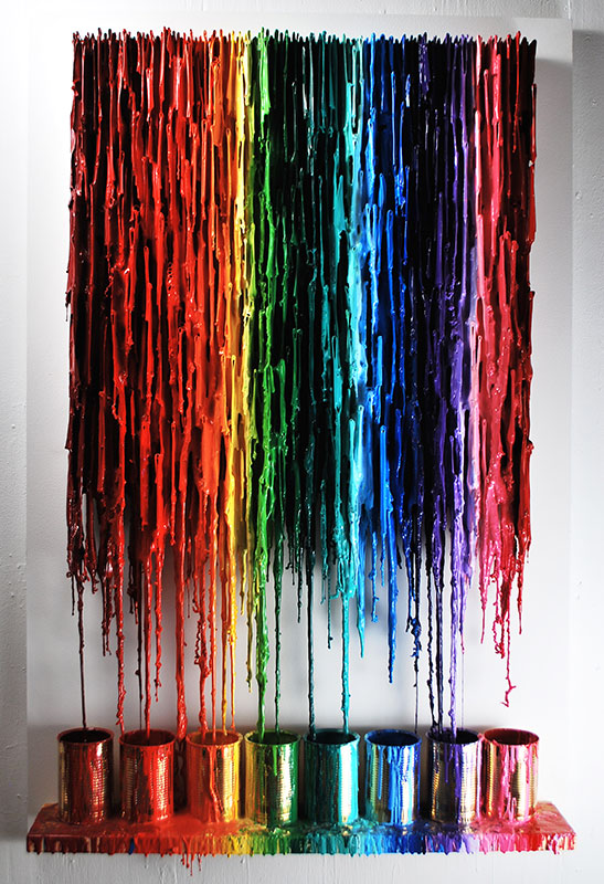 Always Chasing Rainbows: Colourful Quirky Wall Art   Russell West 3D Wall Art Sculptures