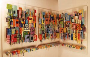 Little Boxes XXXVII - Wall Sculptures Large | Russell West 3D Wall Art Sculptures